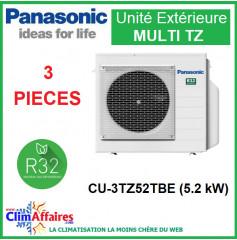 Panasonic Climatisation - Unités Extérieures MULTI TZ - TRI-SPLITS - R32 - CU-3TZ52TBE