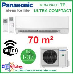 Panasonic Climatisation Murale Inverter - TZ Ultra-Compact - R32 - CS-TZ71WKEW + CU-TZ71WKE + WIFI (7.1 kW)