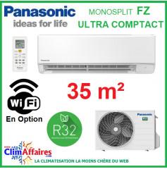 Panasonic Climatisation Mural Inverter - FZ Ultra Compact - R32 - CS-FZ35WKE + CU-FZ35WKE (3.4 kW)