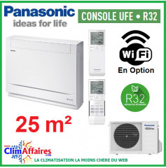 Panasonic Climatisation Inverter - CONSOLE UFE - R32 - CS-Z25UFEAW + CU-Z25UBEA (2.5 kW)