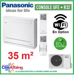 Panasonic Climatisation Inverter - CONSOLE UFE - R32 - CS-Z35UFEAW + CU-Z35UBEA (3.5 kW)