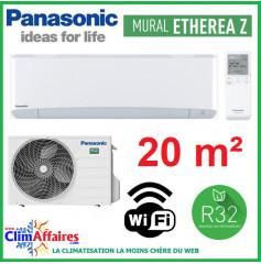 Panasonic Climatisation Inverter - ETHEREA Z - R32 - Blanc Mat - CS-Z20VKEW + CU-Z20VKE + WIFI (2.0 kW)