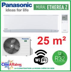 Panasonic Climatisation Inverter - ETHEREA Z - R32 - Blanc Mat - CS-Z25VKEW + CU-Z25VKE + WIFI (2.5 kW)