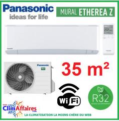 Panasonic Climatisation Inverter - ETHEREA Z - R32 - Blanc Mat - CS-Z35VKEW + CU-Z35VKE + WIFI (3.5 kW)