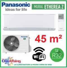 Panasonic Climatisation Inverter - ETHEREA Z - R32 - Blanc Mat - CS-Z42VKEW + CU-Z42VKE + WIFI (4.2 kW)