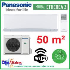 Panasonic Climatisation Inverter - ETHEREA Z - R32 - Blanc Mat - CS-Z50VKEW + CU-Z50VKE + WIFI (5.0 kW)