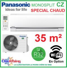 Panasonic Climatisation Mural Inverter - CZ Spéciale Chauffage - R32 - CS-CZ35TKE + CU-CZ35TKE (3.5 kW)