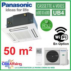 Panasonic Climatisation Inverter - CASSETTE 4 VOIES 60 X 60 UB4 - R32 - CS-Z50UB4EAW + CU-Z50UBEA + FAÇADE CZ-BT20EW (5.0 kW)