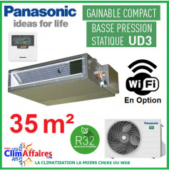 Panasonic Climatisation Inverter - GAINABLE BASSE PRESSION UD3 - R32 - CS-Z35UD3EAW + CU-Z35UBEA (3.5 kW)