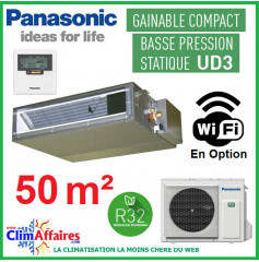 Panasonic Climatisation Inverter - GAINABLE BASSE PRESSION UD3 - R32 - CS-Z50UD3EAW + CU-Z50UBEA (5.10 kW)