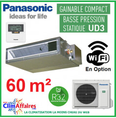 Panasonic Climatisation Inverter - GAINABLE BASSE PRESSION UD3 - R32 - CS-Z60UD3EAW + CU-Z60UBEA (6.0 kW)