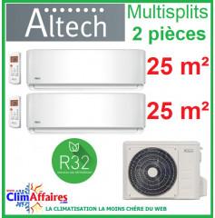 Altech Climatisation - Bi-Splits - Série AE - M2OD-18HFN8-Q + 2 x 09HRFNX (5.3 kW)