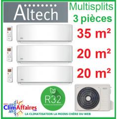Altech Climatisation - Tri-Splits - Série AE - R32 - M3OF-27HFN8-Q + 12HRFNX + 2 x 09HRFNX (7.9 kW)