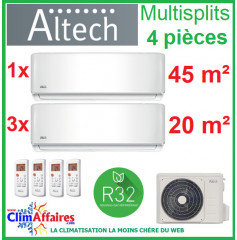Altech Climatisation - Quadri-Splits - Série AE - R32 - M4OB-36HFN8-Q + 18HRFNX + 3 x 09HRFNX (10.5 kW)