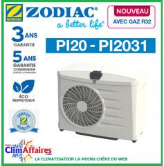 ZODIAC - PI20 - Pompe à chaleur pour piscine - PI2031 - R32 - 9.3 kW - Monophasé (Jusqu'à 45 m³)