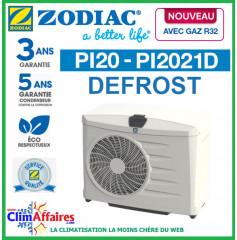 ZODIAC - PI20 DEFROST - Pompe à chaleur pour piscine - PI2021D - R32 - 6.7 kW - Monophasé (Jusqu'à 30 m³)