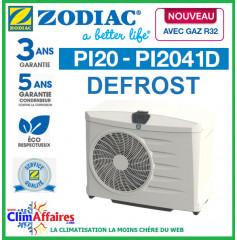 ZODIAC - PI20 DEFROST - Pompe à chaleur pour piscine - PI2041D - R32 - 11.5 kW - Monophasé (Jusqu'à 60 m³)