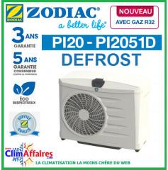 ZODIAC - PI20 DEFROST - Pompe à chaleur pour piscine - PI2051D - R32 - 14.8 kW - Monophasé (Jusqu'à 70 m³)