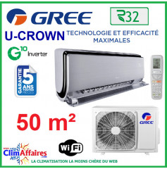 GREE Climatisation Inverter - Murale U-CROWN 18 - R32 (5,3 kW)