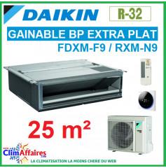 Daikin Climatisation Inverter - GAINABLE BP EXTRA-PLAT - R32 - FDXM25F9 + RXM25R (2.5 kW)