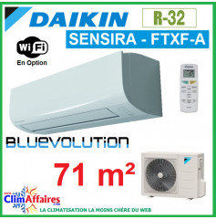 Daikin Climatisation Inverter Réversible - SENSIRA BLUEVOLUTION - R32 - FTXF71A + RXF71A (7.1 kW)