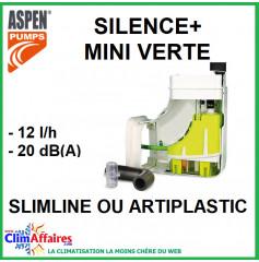 Pompe de relevage Aspen - Silence + MINI VERTE - Goulotte Slimline ou Artiplastic (12 l/h)