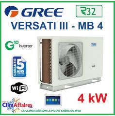 GREE - Versati lll - MB 4 - Pompe à Chaleur Air/Eau - Monobloc - Monophasé - 3IGR5104 (4.0 kW)