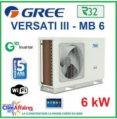 GREE - Versati lll - MB 6 - Pompe à Chaleur Air/Eau - Monobloc - Monophasé - 3IGR5105 (6.0 kW)