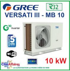 GREE - Versati lll - MB 10 - Pompe à Chaleur Air/Eau - Monobloc - Monophasé - 3IGR5107 (10 kW)