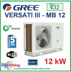 GREE - Versati lll - MB 12 - Pompe à Chaleur Air/Eau - Monobloc - Monophasé - 3IGR5108 (12 kW)