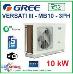 GREE - Versati lll - MB 10 3PH - Pompe à Chaleur Air/Eau - Monobloc - Triphasé - 3IGR5111 (10 kW)