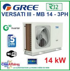 GREE - Versati lll - MB 14 3PH - Pompe à Chaleur Air/Eau - Monobloc - Triphasé - 3IGR5113 (14 kW)