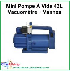 Mini Pompe à vide 42L vacuomètre + vannes