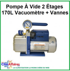 Pompe À Vide 2 Étages 170L Vacuomètre + Vannes