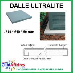 Dalle mousse expansée ULTRALITE pour groupe extérieur - 600 x 600 x 50 mm