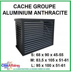 Cache groupe - Aluminium Anthracite - Unité extérieure (3 tailles : S - M - L)