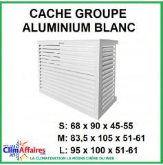 Cache groupe - Aluminium Blanc - Unité extérieure (3 tailles : S - M - L)