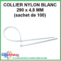 Collier Nylon Blanc - 290 x 4.8 mm (lot de 100)