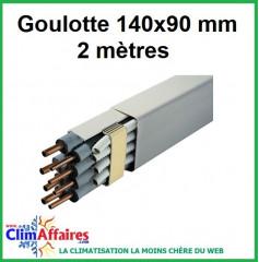 Goulotte - 140x90 mm - 2 mètres - Ivoire