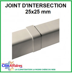 Joint d'intersection pour raccord goulotte 25x25 mm