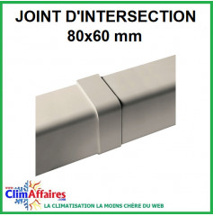 Joint d'intersection pour raccord goulotte 80x60 mm - Ivoire