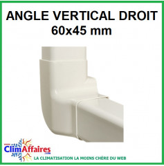 Angle vertical droit pour raccord goulotte 60x45 mm