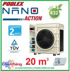 POOLSTAR - Pompe à chaleur pour piscine - POOLEX - NANO ACTION - PC-NANO20 - 3.0 kW (20 m³)