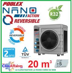 POOLSTAR - Pompe à chaleur pour piscine - POOLEX - NANO ACTION RÉVERSIBLE - PC-NAN30R - 3.0 kW (20 m³)