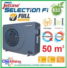 POOLSTAR - Pompe à chaleur piscine - POOLEX - JETLINE SELECTION FULL INVERTER - PC-JLS095N - 9.5 kW (40 à 50 m³)