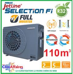 POOLSTAR - Pompe à chaleur piscine - POOLEX - JETLINE SELECTION FULL INVERTER - PC-JLS210N - 20.1 kW (80 à 110 m³)