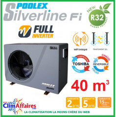 POOLSTAR - Pompe à chaleur piscine - POOLEX - SILVERLINE FULL INVERTER - PC-SLP070N - 6.8 kW (30 à 45 m³)