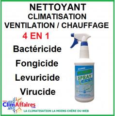 FIRCHIM - POWERSPRAY CVC - Nettoyant 4 en 1 - Climatisation, Ventilation et Chauffage - 1 litre