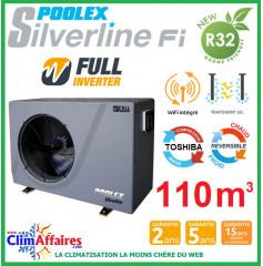 POOLSTAR - Pompe à chaleur piscine - POOLEX - SILVERLINE FULL INVERTER - PC-SLP200N - 19.2 kW (80 à 110 m³)