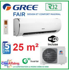 GREE Climatisation Inverter - Monosplit Mural - R32 - FAIR 9 (2.7 kW)